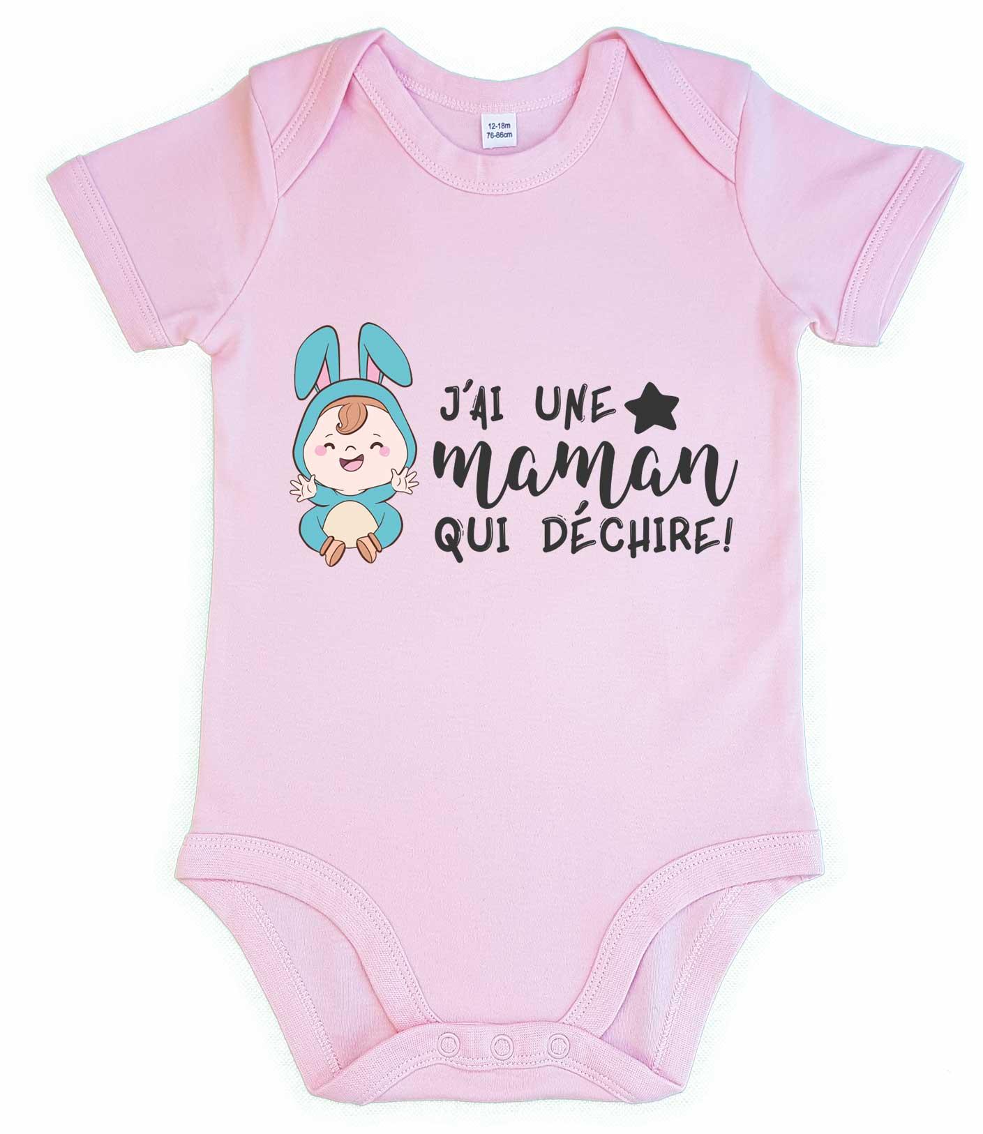 Body bébé J ai une maman qui déchire - Poupishirt 151640d705a
